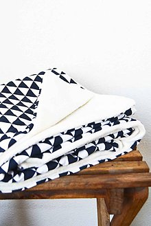 Textil - _BUVI... tmavomodrá & biela... deka pre najmenších ♥ - 6368214_