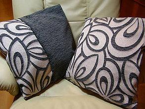 Úžitkový textil - sivo-béžový gentlmen - 6368729_
