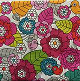 Papier - S634 - Servítky - vtáčik medzi kvetmi, bird - 6365711_
