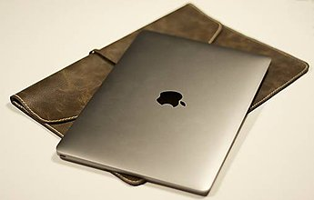 Na notebook - Kožený obal na notebook - 6365946_