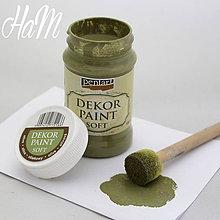 Farby-laky - Dekor Paint Soft 100ml - olivová - 6368178_