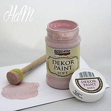Farby-laky - Dekor Paint Soft 100 ml - viktoriánska ružová - 6368205_