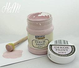 Farby-laky - Dekor Paint Soft 230ml - viktoriánska ružová  - 6368228_
