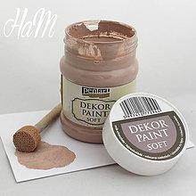 Farby-laky - Dekor Paint Soft 230ml - mliečna čokoláda - 6368276_