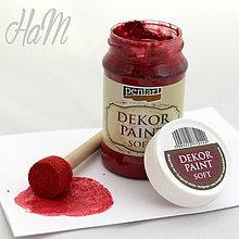 Farby-laky - Dekor Paint Soft 100ml - burgundská červená - 6368330_