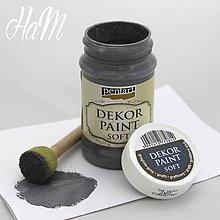Farby-laky - Dekor Paint Soft 100ml- grafitová - 6368348_