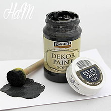 Farby-laky - Dekor Paint Soft 100ml-čierna  - 6368351_