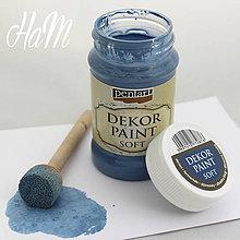 Farby-laky - Dekor Paint Soft 100ml-džínsovo modrá  - 6368353_