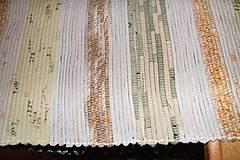 Úžitkový textil - Tkaný svetlý koberec - 6365587_