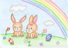 Kresby - Veľkonočné zajačiky - 6369046_