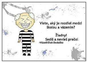 Papiernictvo - Škola väzenie - linajková podložka do zošita (2) - 6368714_