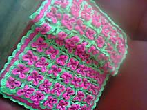 ružovo-zelená deka