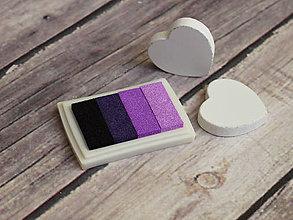Farby-laky - Pečiatková poduška fialová - 6370579_
