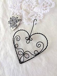Dekorácie - vyšívané srdcom...folk - 6372599_