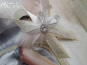 Pierka - svadobné pierko pre družbu ivoryStrieborná - 6370753_