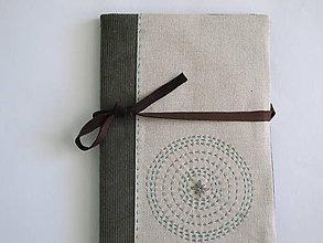 Úžitkový textil - Prebal na zápisník- čarokruh - 6371359_