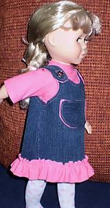 Bábiky - Riflová sukňa,sveter,pančuchy,tričko - 6371975_