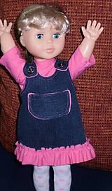 Bábiky - Riflová sukňa,sveter,pančuchy,tričko - 6371976_