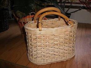 Košíky - Vkusná kabelka-môže aj na naaranžovanie kvetín... - 6371957_