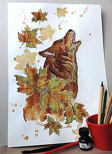 Kresby - Vyjúci vlk - 6372618_
