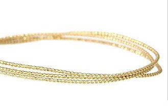 Suroviny - Drôt zlatý ozdobný 1,2 mm/ m - 6369882_