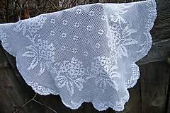 Úžitkový textil - Háčkovaná okrúhla dečka - 6369908_
