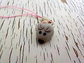 Na mobil - mini myška - prívesok na mobil - 6373918_