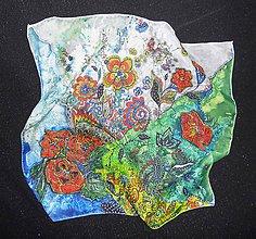 Šatky - lel, folk-art energy hodvábna šatka - 6377831_