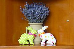 Dekorácie - Bodkovaný zajko - 6376045_