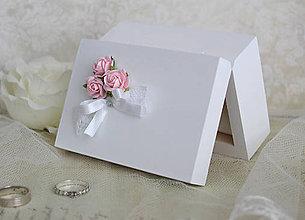 Prstene - Krabička na prstienky Pink Roses - 6376915_