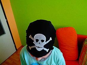 Detské čiapky - maľovaná kostra - 6377315_
