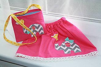 Detské oblečenie - Suknička sloník,116 - 6376673_