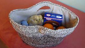 Nákupné tašky - Háčkovaný nákupný kôš - 6376417_