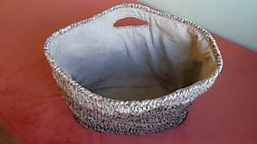 Nákupné tašky - Háčkovaný nákupný kôš - 6376421_