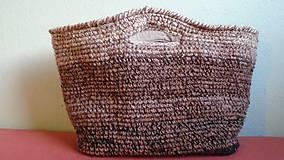 Nákupné tašky - Háčkovaný nákupný kôš - 6376437_