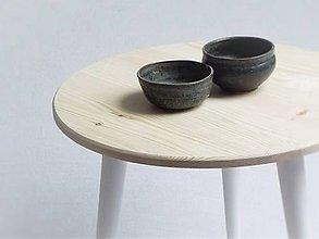 Nábytok - Stolík okrúhly, biele nohy - 6377962_