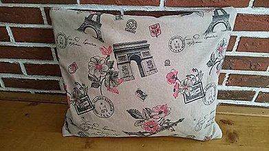 Úžitkový textil - Dekoračný vankúš - Jahody v Paríži. - 6380454_