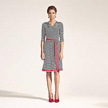 Šaty - Zavinovacie šaty s paličkovanú čipkou - 6382759_
