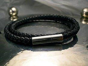 Šperky - na krk - kožený čierny 6mm - 6382127_