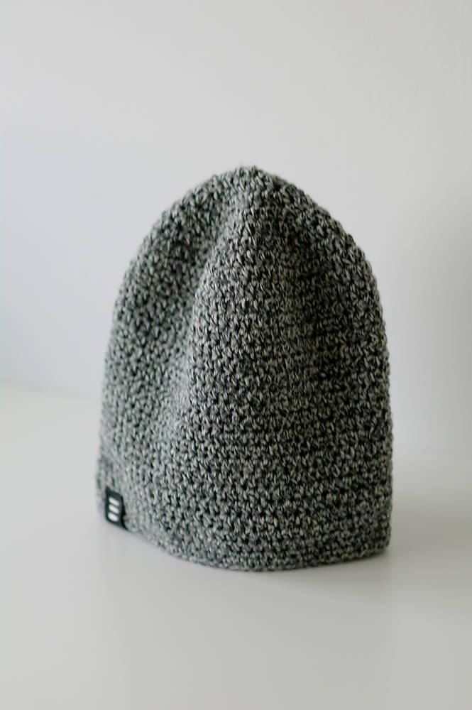 ...pánska čiapka oversized šedo-biela