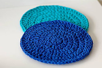 Úžitkový textil - ...podsedák na stoličku v modrej - 6381254_