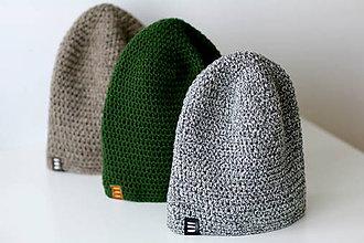 Doplnky - ...pánska čiapka oversized šedo-biela - 6381420_