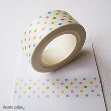 Papier - farebné bodky - 6381051_