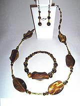 Sady šperkov - tigrie oči súprava - 6380932_