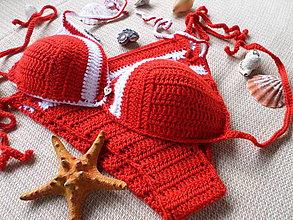 Bielizeň/Plavky - plavko -  opaľovačky červeno-biele - 6381076_