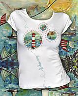 Letné tričko s motívom majáka Bon Voyage