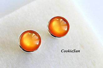 Náušnice - Glamour Orange (Napichovačky 12mm) - 6381589_