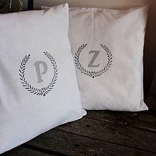 Úžitkový textil - Obliečky s iniciálom P & Z - 6381631_