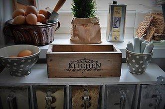 Nádoby - Malá debnička do kuchyne - 6381641_