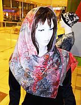 Šály - lel art flowers future silk - 6386831_